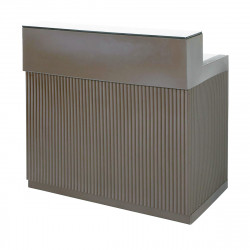 Bar Cordiale gris argile, module droit, Slide Design, L120 x P70 x H110 cm