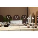 Bar Cordiale Corner gris argile, module d'angle, Slide Design, L70 x P70 x H110 cm