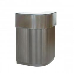 Bar Cordiale Corner gris argile, module d\'angle, Slide Design, L70 x P70 x H110 cm
