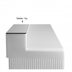 Tablette Cordiale Top, HPL blanc, pour module droit de bar Cordiale, Slide Design