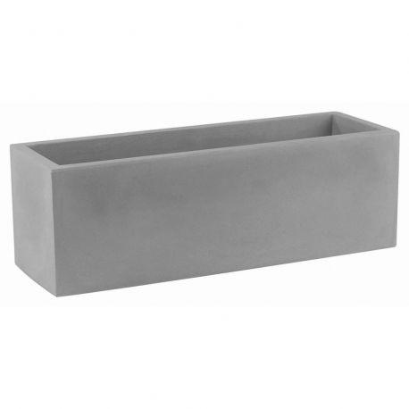 Jardinière rectangulaire 100 cm gris argent, Jardinera 100, Vondom, simple paroi, Longueur 100x40xH40 cm
