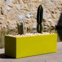 Jardinière rectangulaire grande taille Jardinera taupe, Vondom, simple paroi, Longueur 120x50xH50 cm