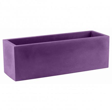 Jardinière rectangulaire grande taille Jardinera violet prune, Vondom, simple paroi, Longueur 120x50xH50 cm