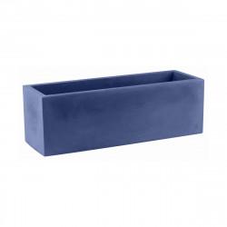 Jardinière design rectangulaire 80 cm bleu marine, Jardinera 80, Vondom, simple paroi, Longueur 80x30xH30 cm