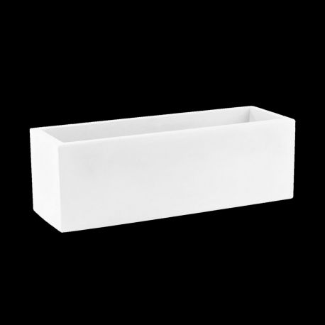 Jardinière lumineuse Leds blancs, Jardinera 80, Vondom, double paroi, Longueur 80x30xH30 cm