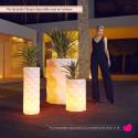 Pot de Jardin Marquis lumineux Leds RGBW diamètre 60 cm x hauteur 50 cm, Vondom