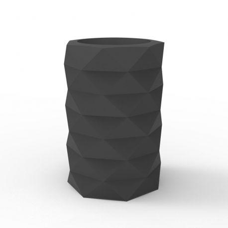 Pot de Jardin Marquis diamètre 40 cm x hauteur 60 cm, Vondom Gris Anthracite Mat