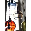 Suspension Rowan marron glacé, diamètre 15,5 cm, Ebb & Flow, douille et câble dorés