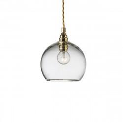 Suspension Rowan transparent, diamètre 15,5 cm, Ebb & Flow, douille et câble dorés