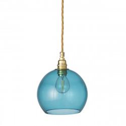 Suspension Rowan bleu océan déchaine, diamètre 15,5 cm, Ebb & Flow, douille et câble dorés