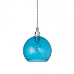 Suspension Rowan Bleu Piscine, diamètre 15,5 cm, Ebb & Flow, douille et câble argents