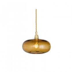 Petite suspension verre soufflé Horizon Toast, diamètre 21 cm, Ebb & Flow, douille et câble dorés