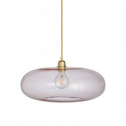 Luminaire verre soufflé Horizon Corail, diamètre 45 cm, Ebb & Flow, douille et câble dorés