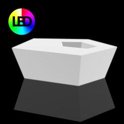 Table basse origami Faz Led RGB à batterie, Vondom, 110x70xH32 cm
