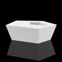 Table basse à facettes Faz, lumineuse Leds blancs, Vondom, 110x70xH32 cm