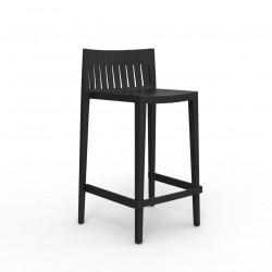Tabouret haut Spritz, hauteur d'assise 66cm, Vondom noir