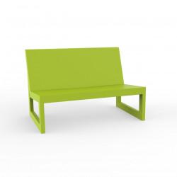 Module central pour salon de jardin design Frame, Vondom pistache avec coussins en tissu Silvertex