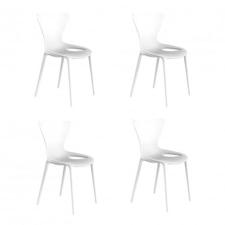 Lot de 4 chaises Love Kids, Vondom blanc
