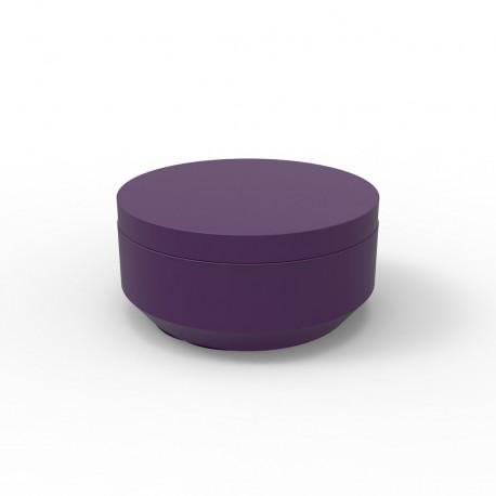 Pouf rond Vela Chill diamètre 80cm, Vondom violet prune