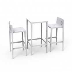 Set Spritz table et 2 tabourets, hauteur d'assise 76cm, Vondom blanc