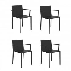 Lot de 4 fauteuils Quartz, Vondom Noir