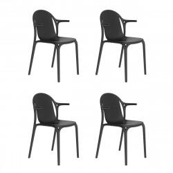 Lot de 4 fauteuils Brooklyn, Vondom Noir