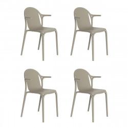 Lot de 4 fauteuils Brooklyn, Vondom Ecru