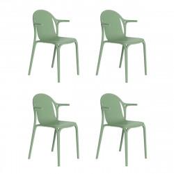 Lot de 4 fauteuils Brooklyn, Vondom Vert cornichon