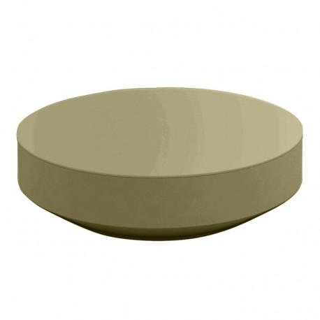 Table basse design ronde Vela diamètre 120cm, Vondom kaki
