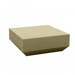 Table basse design carrée Vela Chill 80, Vondom kaki