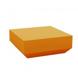 Table basse design carrée Vela Chill 80, Vondom orange