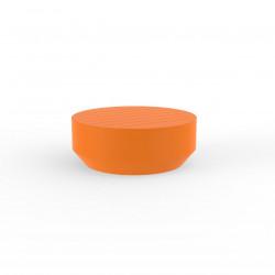 Table basse ronde Vela, diamètre 80xH30cm, Vondom orange