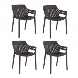 Lot de 4 fauteuils Spritz, Vondom bronze