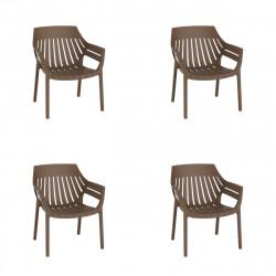 Lot de 4 fauteuils lounge Spritz, Vondom bronze