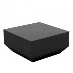 Table basse Vela Chill 60x60xH30cm, Vondom, gris anthracite