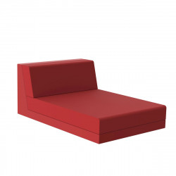 Salon de jardin design Pixel, module chaise longue, Vondom, tissu Silvertex Rouge