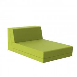 Salon de jardin design Pixel, module chaise longue, Vondom, tissu Silvertex Vert Pistache