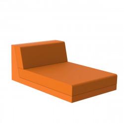 Salon de jardin design Pixel, module chaise longue, Vondom, tissu Silvertex Orange