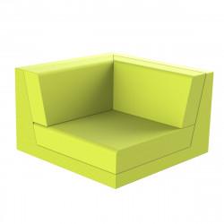 Canapé outdoor modulable Pixel, module gauche, Vondom, tissu Silvertex Vert Pistache