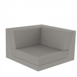 Canapé composable outdoor Pixel, module d'angle, Vondom, tissu Silvertex Taupe