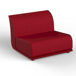 Salon de jardin modulable Suave, module central, Vondom, tissu déperlant rouge Grenade 1046