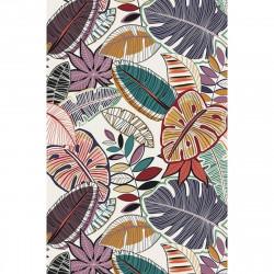 Tapis vinyle feuilles multicolores rectangulaire, 139x198cm, collection Tropicalisme, Pôdevache