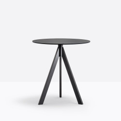 Table Arki-Base Ark3, noir, Pedrali, ∅69