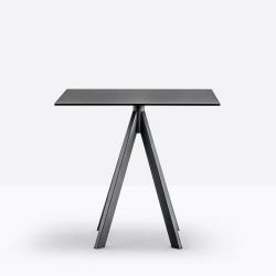 Petite table Arki-Base Ark4, noir, Pedrali, H72xL69x69