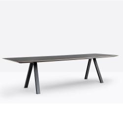 Table design Arki-table, noir, Pedrali, H740xL200xl100