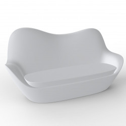 Sofa Sabinas, Vondom blanc, coussins Silvertex blanc