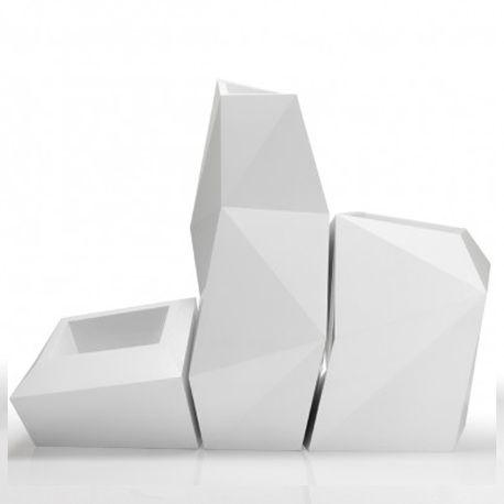 Ensemble de 3 pots Faz, Taille XL, Vondom, blanc