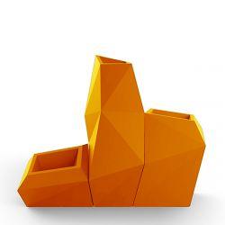 Ensemble de 3 pots Faz, Taille XL, Vondom, orange