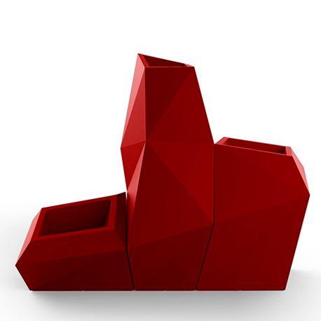 Ensemble de 3 pots Faz, Taille XL, Vondom, rouge