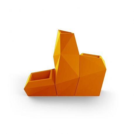 Ensemble de 3 pots Faz, Taille L, Vondom, orange